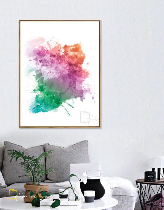 Colorato - Floater Frame - Dark Oak