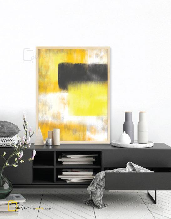 Giallo II - Wooden Frame - Oak