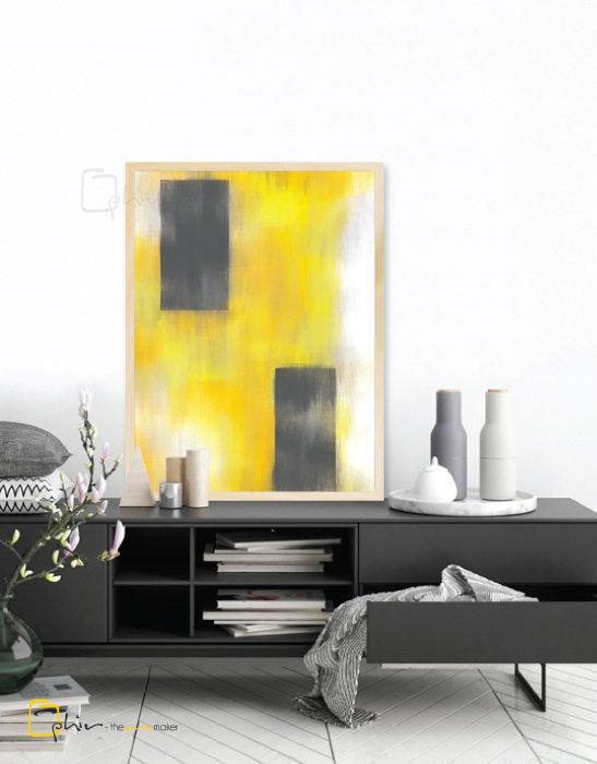 Giallo III - Wooden Frame - Oak