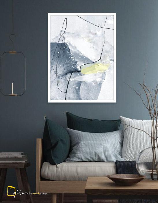 Scintillio III - Wooden Frame - White