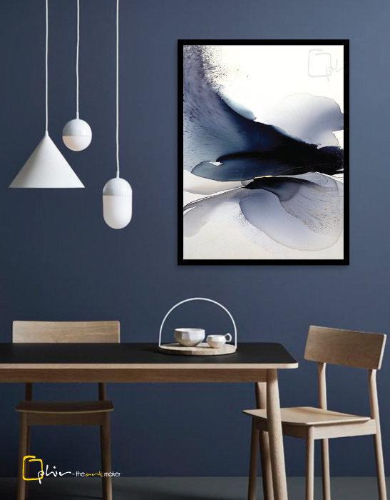 Elegante - Wooden Frame - Black