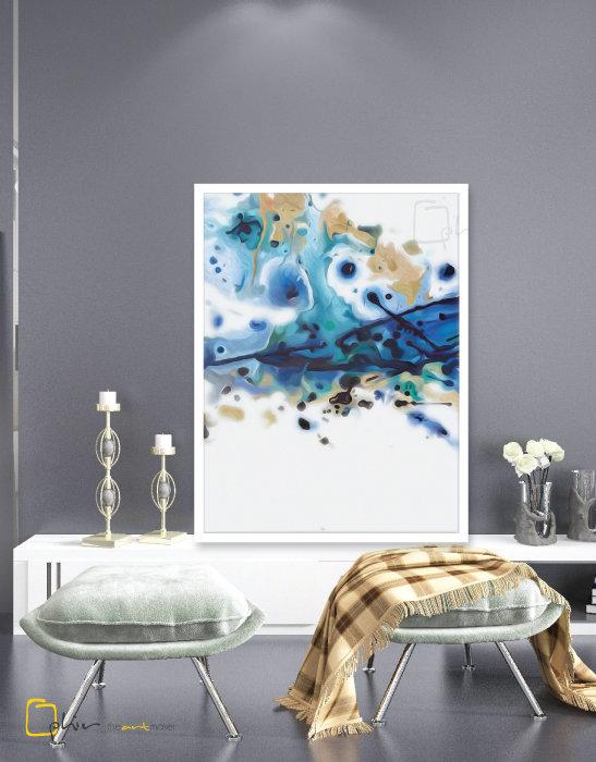 Ink - Wooden Frame - White