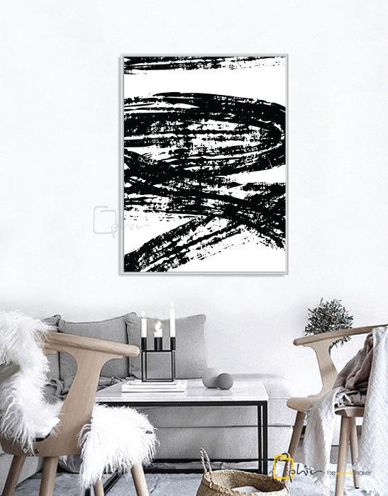Stone Strokes - Floater Frame - White