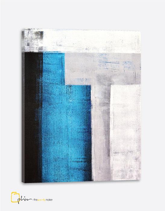 Concrete Blue - Classic Gallery Wrap