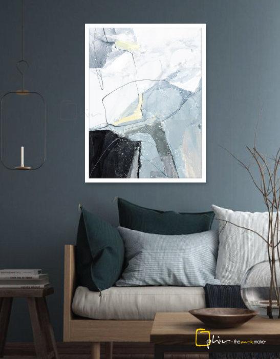 Scintillio - Wooden Frame - White