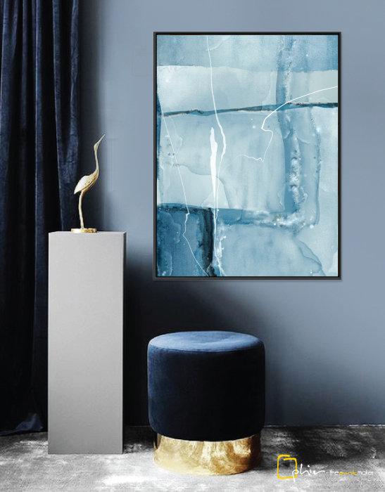 Bleu Parfait - Floater Frame - Black