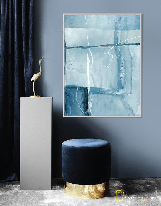 Bleu Parfait - Floater Frame - White