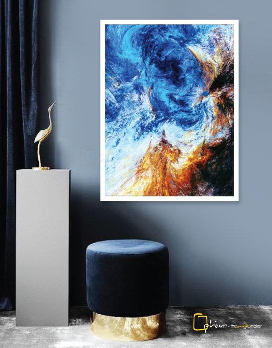 Galaxia - Wooden Frame - White