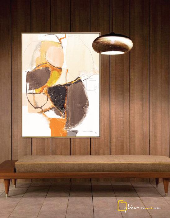 La Diversite - Floater Frame - Dark Oak