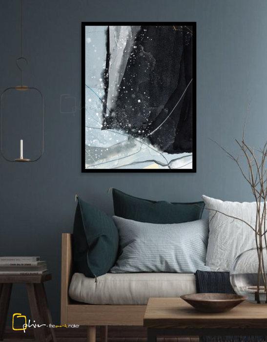 Scintillio V - Wooden Frame - Black