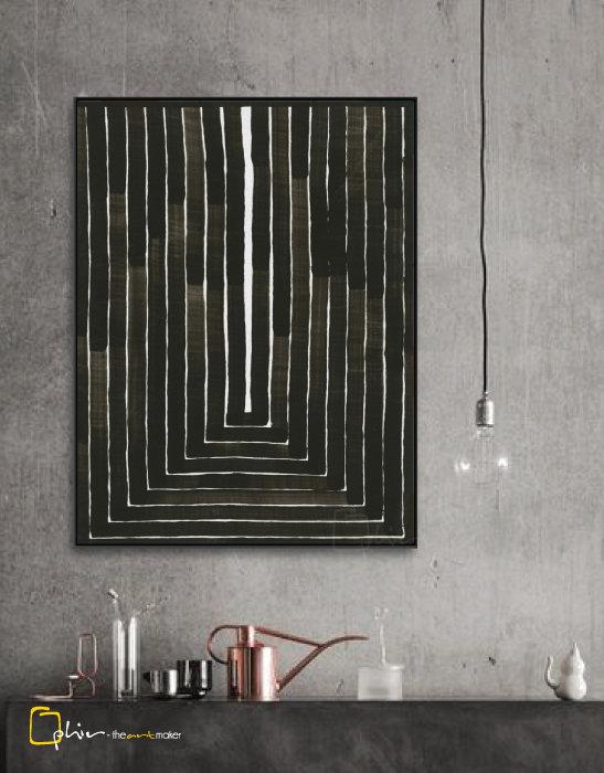 Linee Rette - Floater Frame - Black