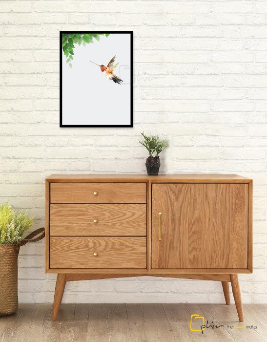 Summer Aves - Wooden Frame - Black