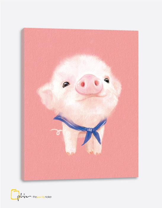 The Fluffy Fleece Piggy - Classic Gallery Wrap