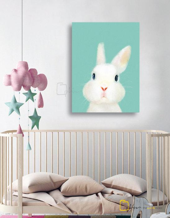 The Fluffy Fleece Rabbit - Classic Gallery Wrap