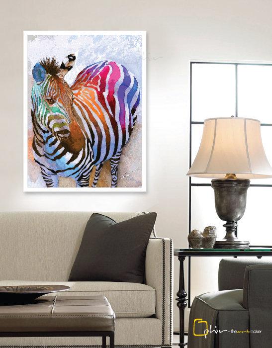 Colorful Equus - Plexiglass - White