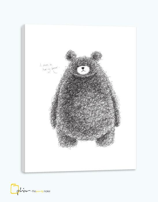 Hairy Bear - Classic Gallery Wrap