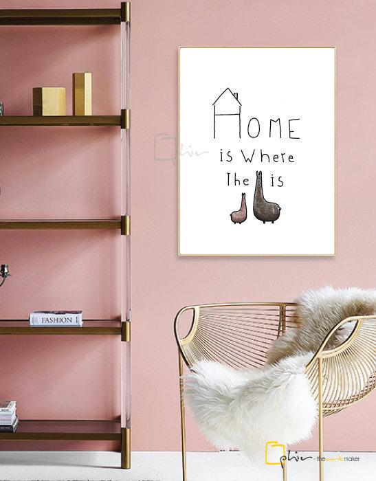 What is Home - Floater Frame - Light Oak