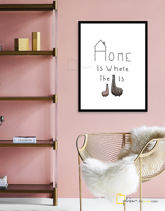 What is Home - Wooden Frame - Black