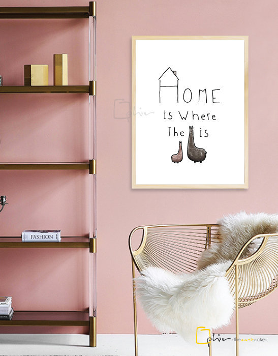 What is Home - Wooden Frame - Oak