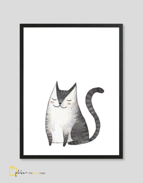 Meow Mackerel - Wooden Frame