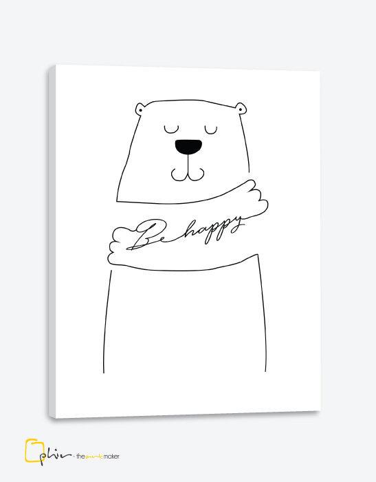 Bear Be Happy - Classic Gallery Wrap