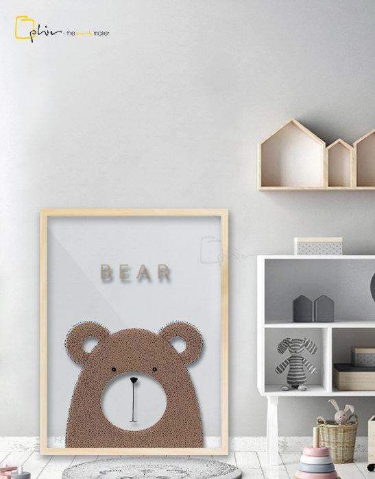 Scruffy Friends Bear - Plexiglass - Oak