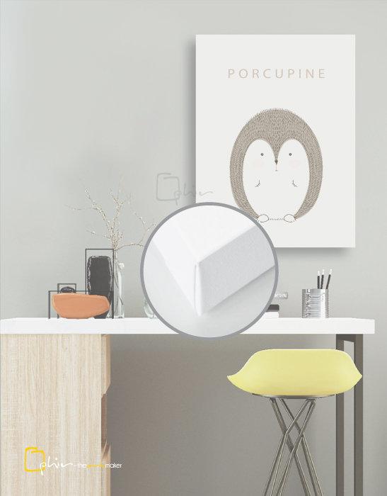 Scruffy Friends Porcupine - Classic Gallery Wrap