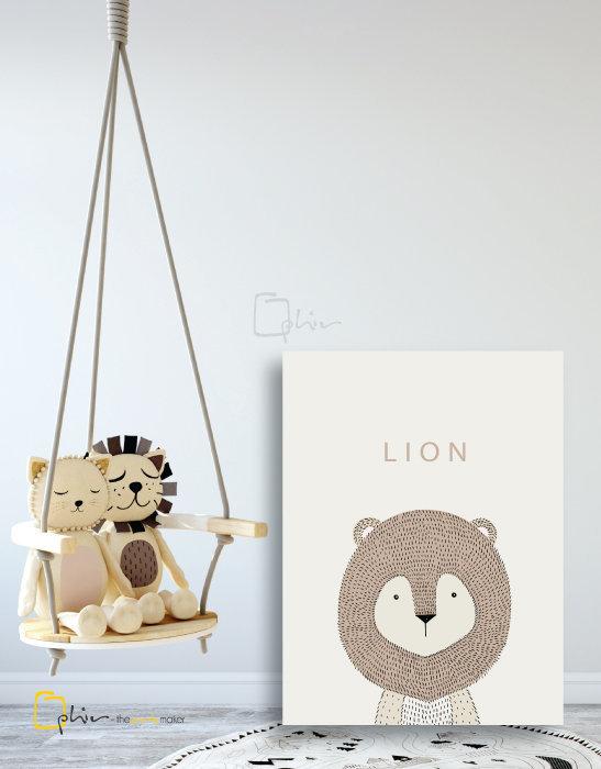 Scruffy Friends Lion - Classic Gallery Wrap