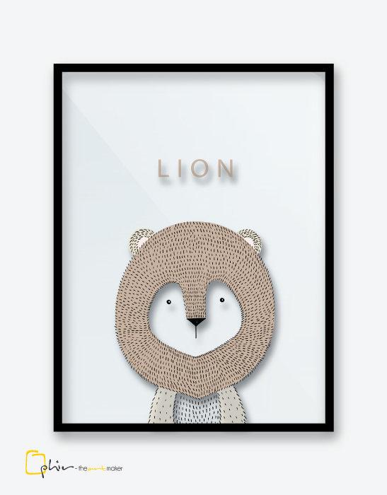 Scruffy Friends Lion - Plexiglass