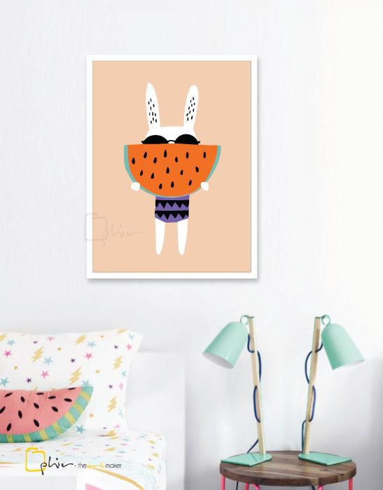 Summer Rabbit - Plexiglass - White