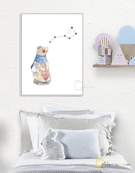 Teddy - Floater Frame - White