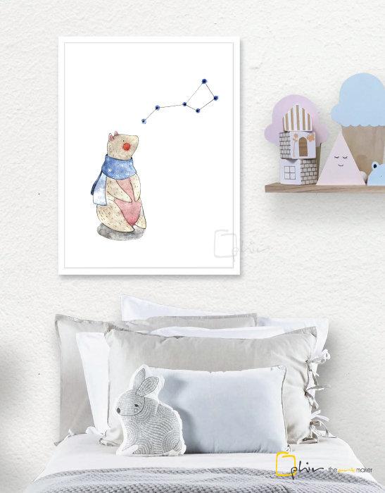 Teddy - Wooden Frame - White