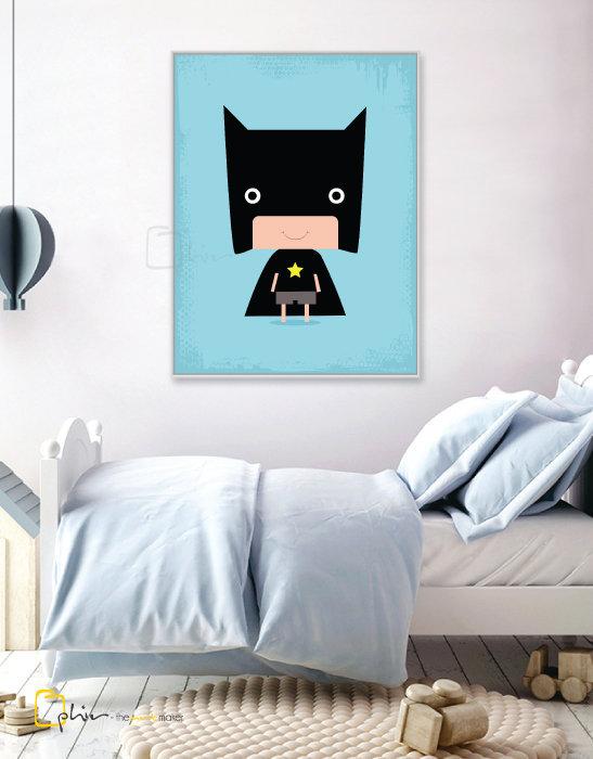 Hero Boy Batsy - Floater Frame - White